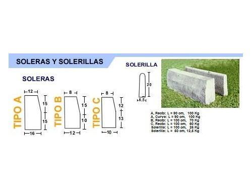 Soleras A, B, C, Solerillas (Certificación MOP, Serviu)